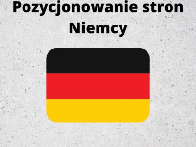 Pozycjonowanie stron Niemcy